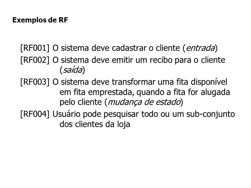 [RF001] O sistema deve cadastrar o cliente (entrada)